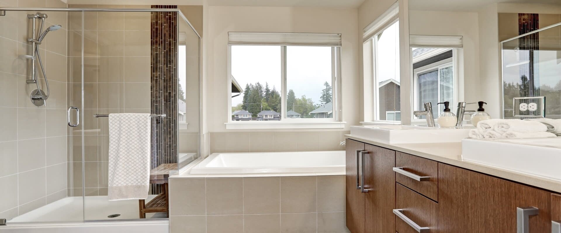 Modern Bathroom Renovation from Awesome Home Renovations